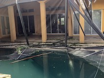 Pool enclosure destroyed by Hurricane Irma (2017) - Fort Myers, FL